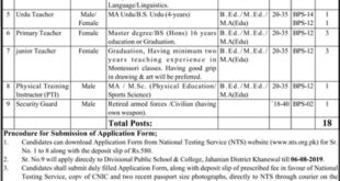 Divisional-Public-School-and-College-Khanewal-Jobs-23-July-2019