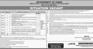 Govt-of-Sindh-Health Department-Karachi-Jobs-08-July-2019