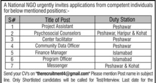 Society-for-Human-Rights-and-Prisoners' Aid-SHARP-Islamabad-Jobs-13-Aug-2019