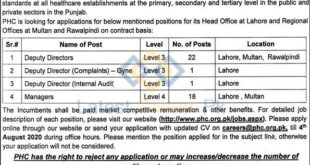 Punjab-Healthcare-Commission-PHC-Lahore-Jobs-21-July-2020