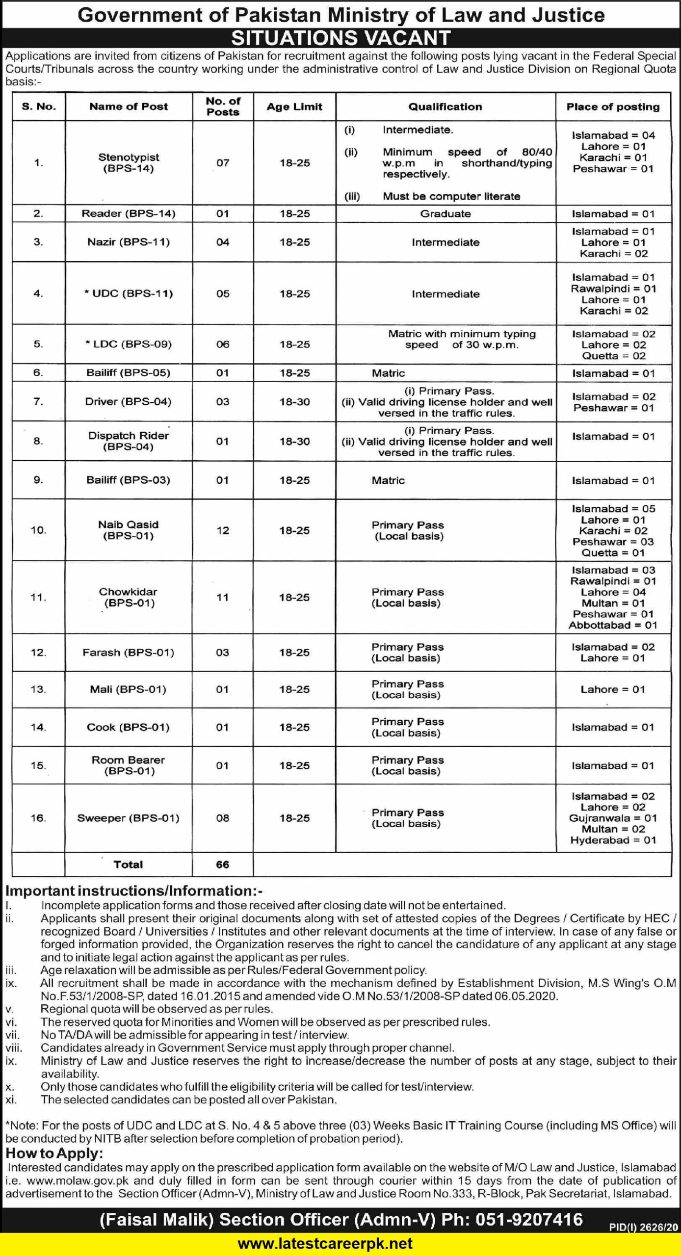 Federal-Special-Courts-FSC-Islamabad-Jobs-20-Nov-2020