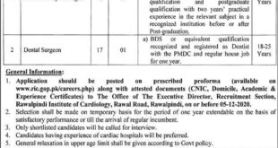Rawalpindi-Institute-of-Cardiology-RIC-Rawalpindi-Jobs-20-Nov-2020