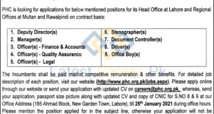 Punjab-Healthcare-Commission-PHC-Lahore-Jobs-11-Jan-2021