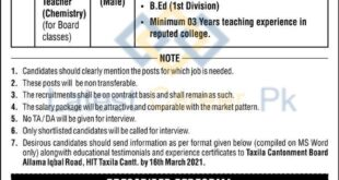Cantt-Public-Educational-Institutions-Taxila-Cantt-Jobs-01-Mar-2021