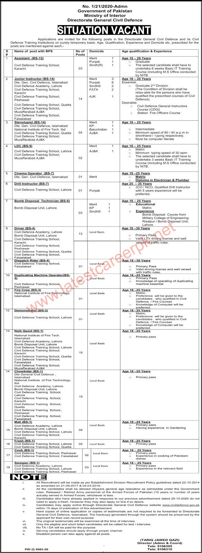 Directorate-General-Civil-Defence-Islamabad-Jobs-02-May-2021