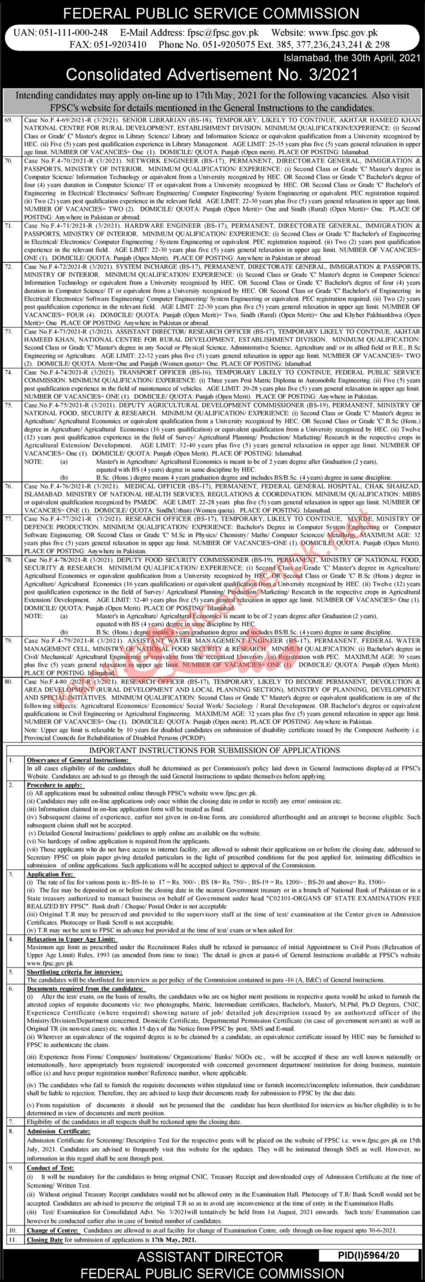 Federal-Public-Service-Commission-FPSC-03-Islamabad-Jobs-02-May-2021
