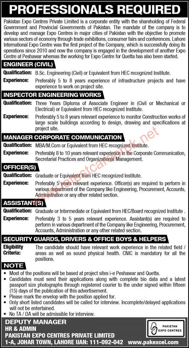 Pakistan-Expo-Centres-Pvt-Limited-Lahore-Jobs-01-May-2021