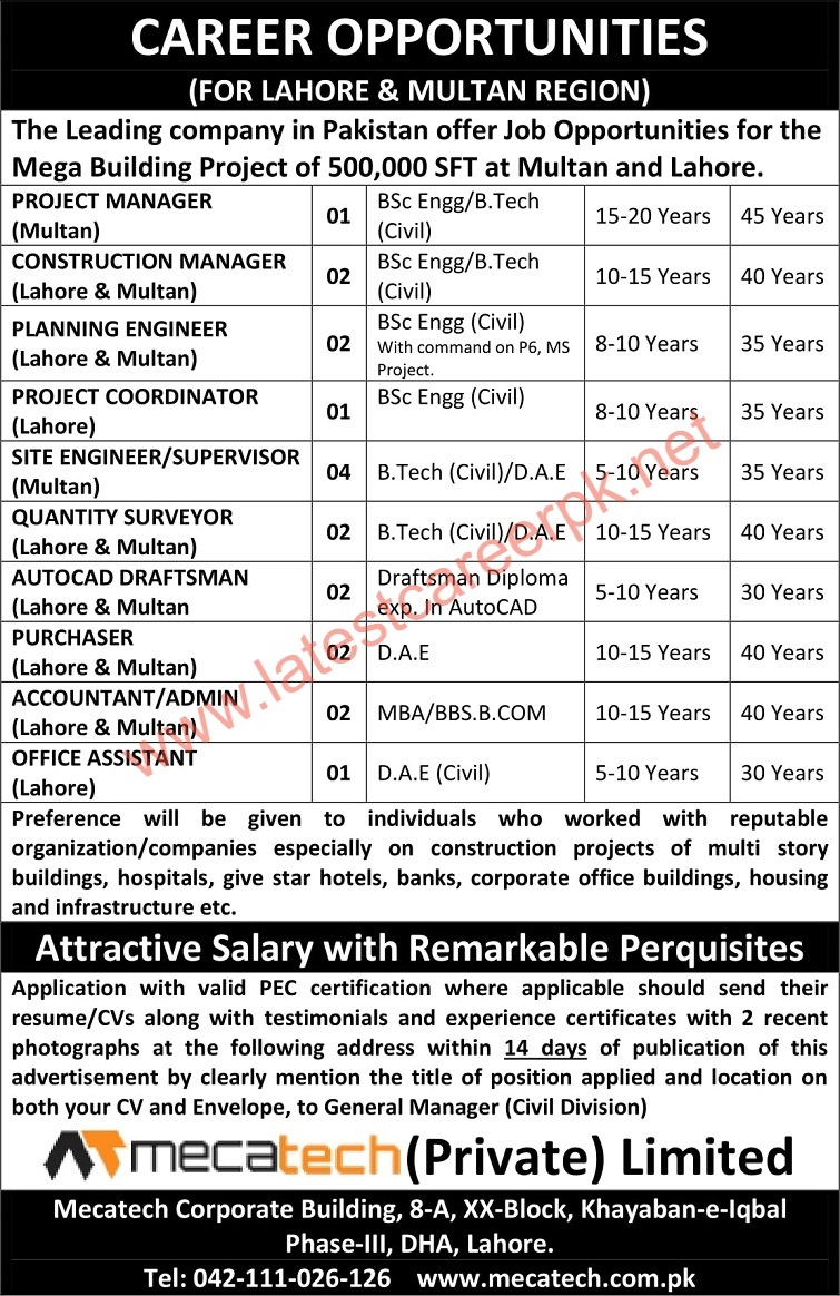 Mecatech-Private-Limited-Lahore-Jobs-20-June-2021