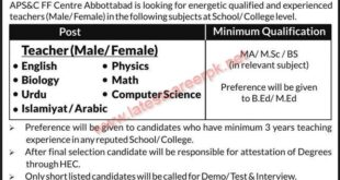 Army-Public-School-and-College-FF-Centre-Abbottabad-Jobs-21-Aug-2021