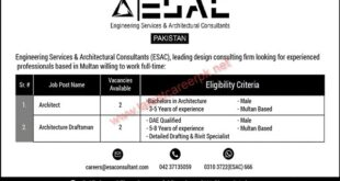 Engineering-Services-and-Architectural-Consultants-ESAC-Multan-Jobs-23-Aug-2021