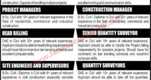 IZHAR-Construction-Pvt-Limited-Lahore-Jobs-17-Oct-2021