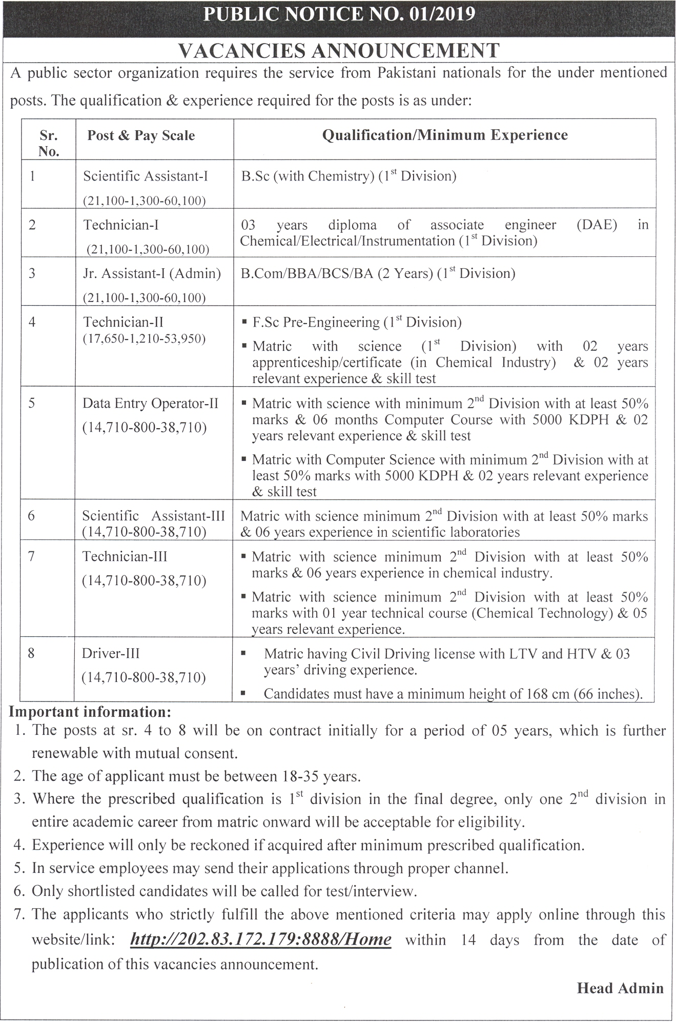 Pakistan Atomic Energy Commission (PAEC) Chashma Mianwali Jobs