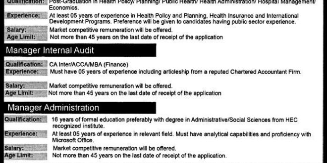 Punjab Health Initiative Management Company (PHIMC) Lahore Jobs