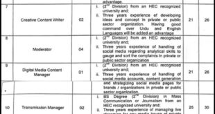 Govt-of-Punjab-Information-and-Culture-Department-Lahore-Jobs-04-May-2019