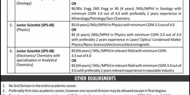 Pakistan Atomic Energy Commission (PAEC) Pakistan Jobs
