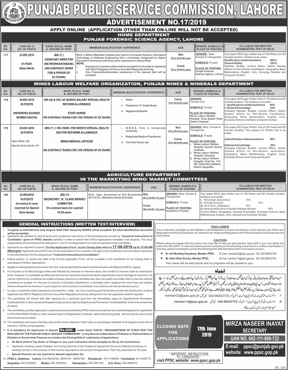 17 Jobs For 17 Year Olds That Will Pay For College: Punjab Public Service Commission (PPSC-17) Punjab Jobs