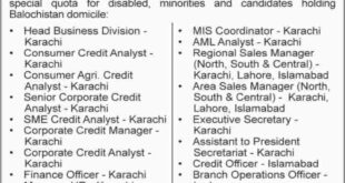 First-Women-Bank-Limited-Pakistan-Jobs-02-July-2019