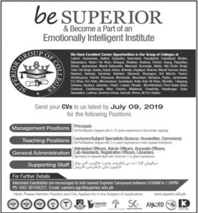 Superior-Group-of-Colleges-SGC-Punjab-Jobs-02-July-2019