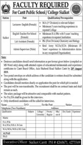Contonment-Public-School-and-College-Sialkot-Jobs-11-Aug-2019