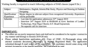 Govt-of-Institute-of-Leather-Technology-Gujranwala-Jobs-10-Aug-2019