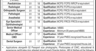 PAF-Shaheen-Foundation-THQ-Hospital-D-G-Khan-Jobs-25-Aug-2019