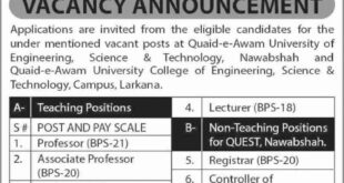 QEA-University-of-Engieering-Science-and-Technology-Nawabshah-Jobs-10-Aug-2019