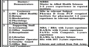 khyber-East-Medical-Institute-and-College-Topi-Swabi-Jobs-31-July-2019