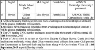 Army-Public-Schools-and-College-APSC-Quetta-Cantt-Jobs-07-Sep-2019