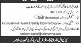 CCL-Pharmaceuticals-Pvt-Limited-Lahore-Jobs-23-Sep-2019