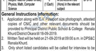District-Public-School-and-College-DPSC-Okara-Jobs-12-Sep-2019