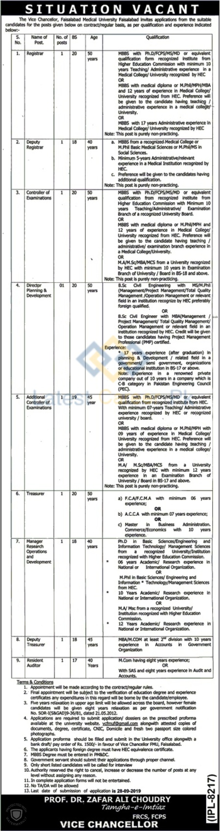 Faisalabad-Medical-University-FMU-Faisalabad-Jobs-10-Sep-2019