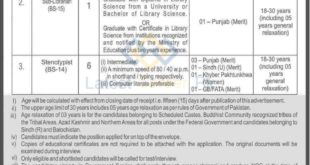 Govt-of-Pakistan-Ministry-of-Science-and-Technology-Islamabad-Jobs-23-Sep-2019