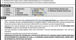 Lahore-Garrison-Education-System-LGES-Lahore-Jobs-08-Sep-2019