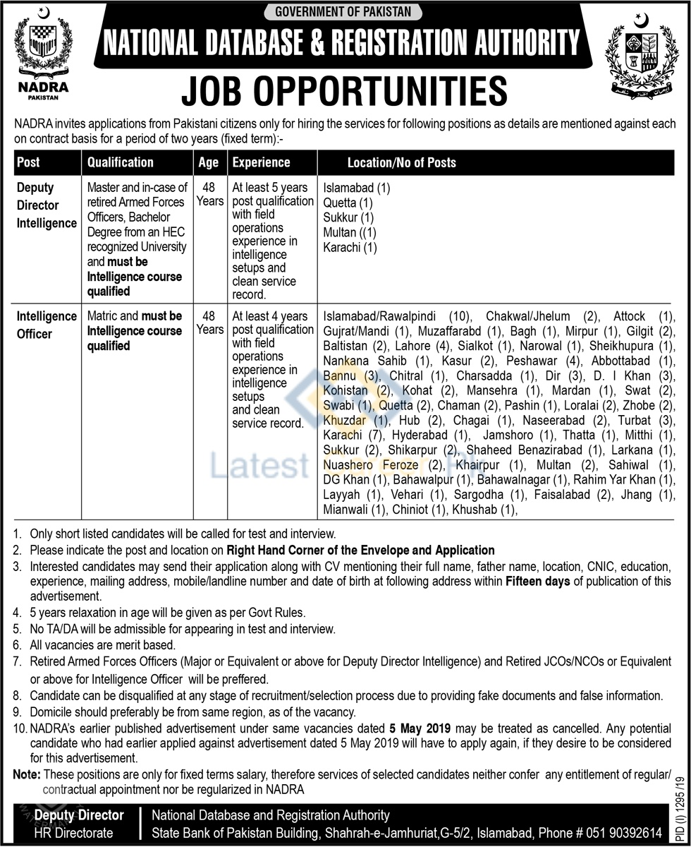 National-Database-and-Registration-Authority-NADRA-Pakistan-Jobs-09-Sep-2019