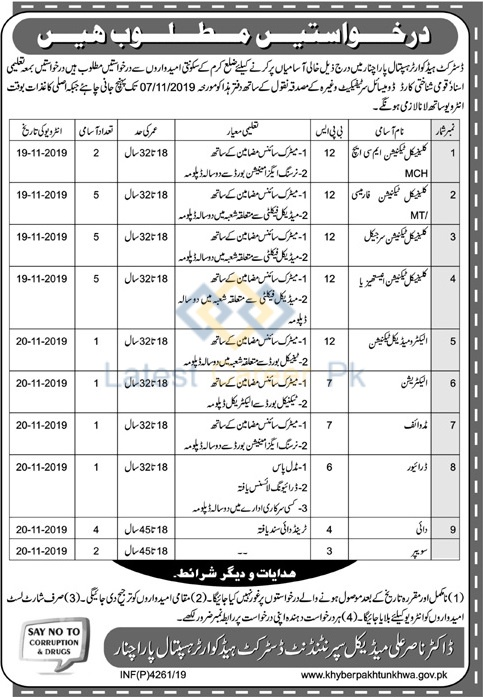 District-Headquarter-Hospital-Parachinar-Jobs-11-Oct-2019