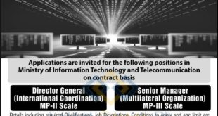 Ministry-of-Information-Technology-and-Telecommunication-Islamabad-Jobs-21-Oct-2019