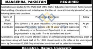 The-Hazara-University-HU-Mansehra-Jobs-21-Nov-2019