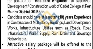 Cadet-College-Fort-Munro-D-G-Khan-Jobs-29-Dec-2019