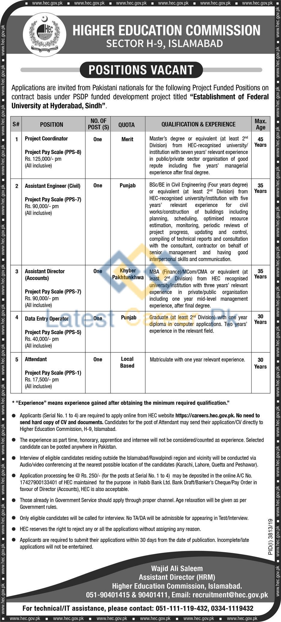 Higher-Education-Commission-HEC-Hyderabad-Jobs-12-Jan-2020