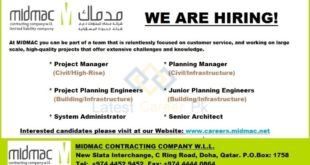 MIDMAC-Contracting-Company-WLL-Qatar-Jobs-30-January-2020