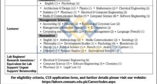 COMSATS-University-Islamabad-CUI-Lahore-Campus-Jobs-27-Feb-2020