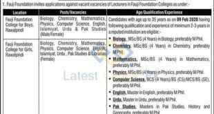 Fauji-Foundation-Colleges-For-Boys-and-Girls-Rawalpindi-Jobs-10-Feb-2020