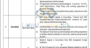 Government-of-Pakistan-National-Tariff-Commission-Islamabad-Jobs-13-Feb-2020