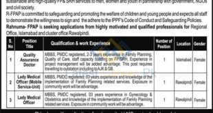 Rahnuma-Family-Planning-Association-of-Pakistan-Rawalpindi-Jobs-11-Feb-2020