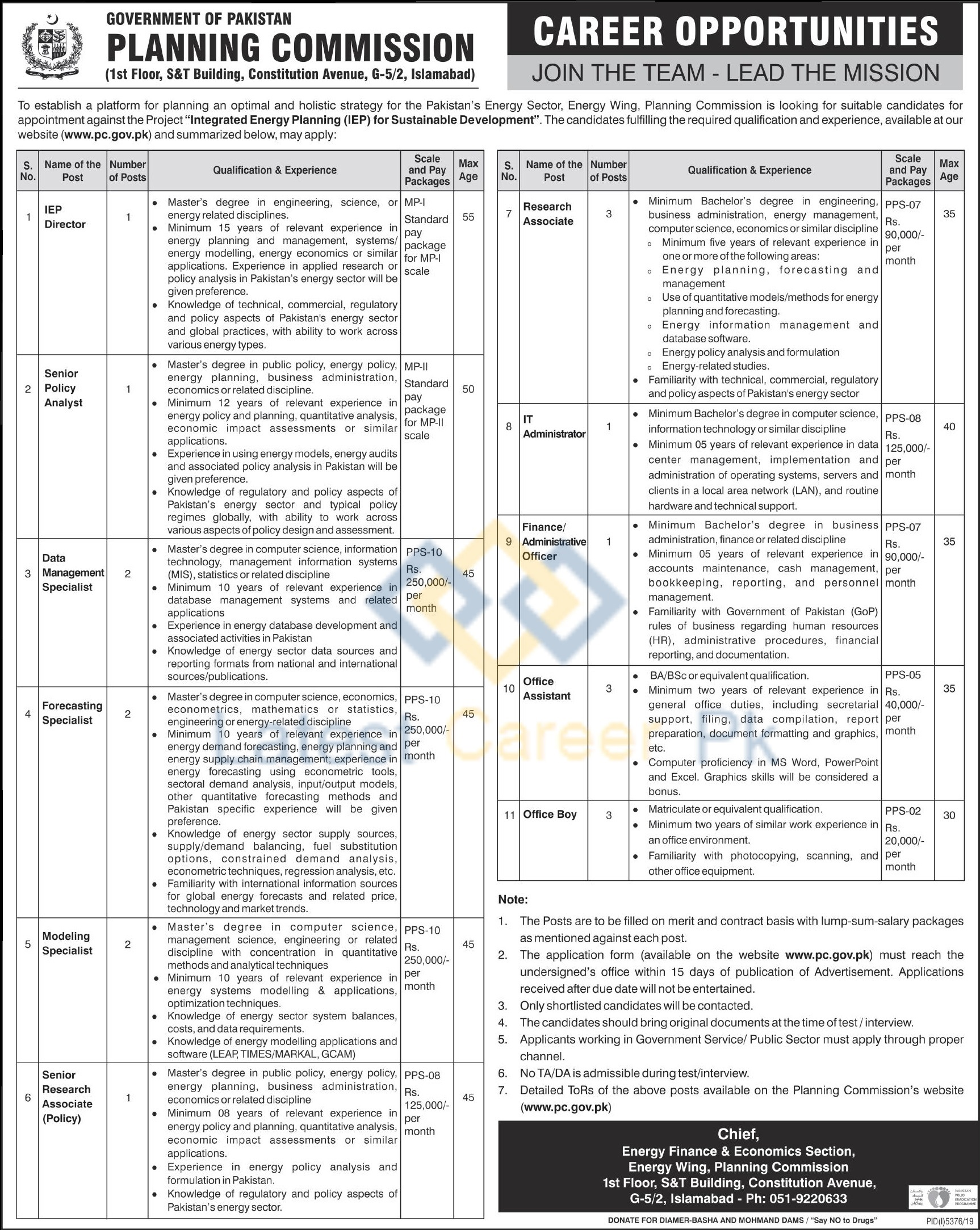 Government-of-Pakistan-Planning-Commission-PC-Islamabad-Jobs-23-Mar-2020