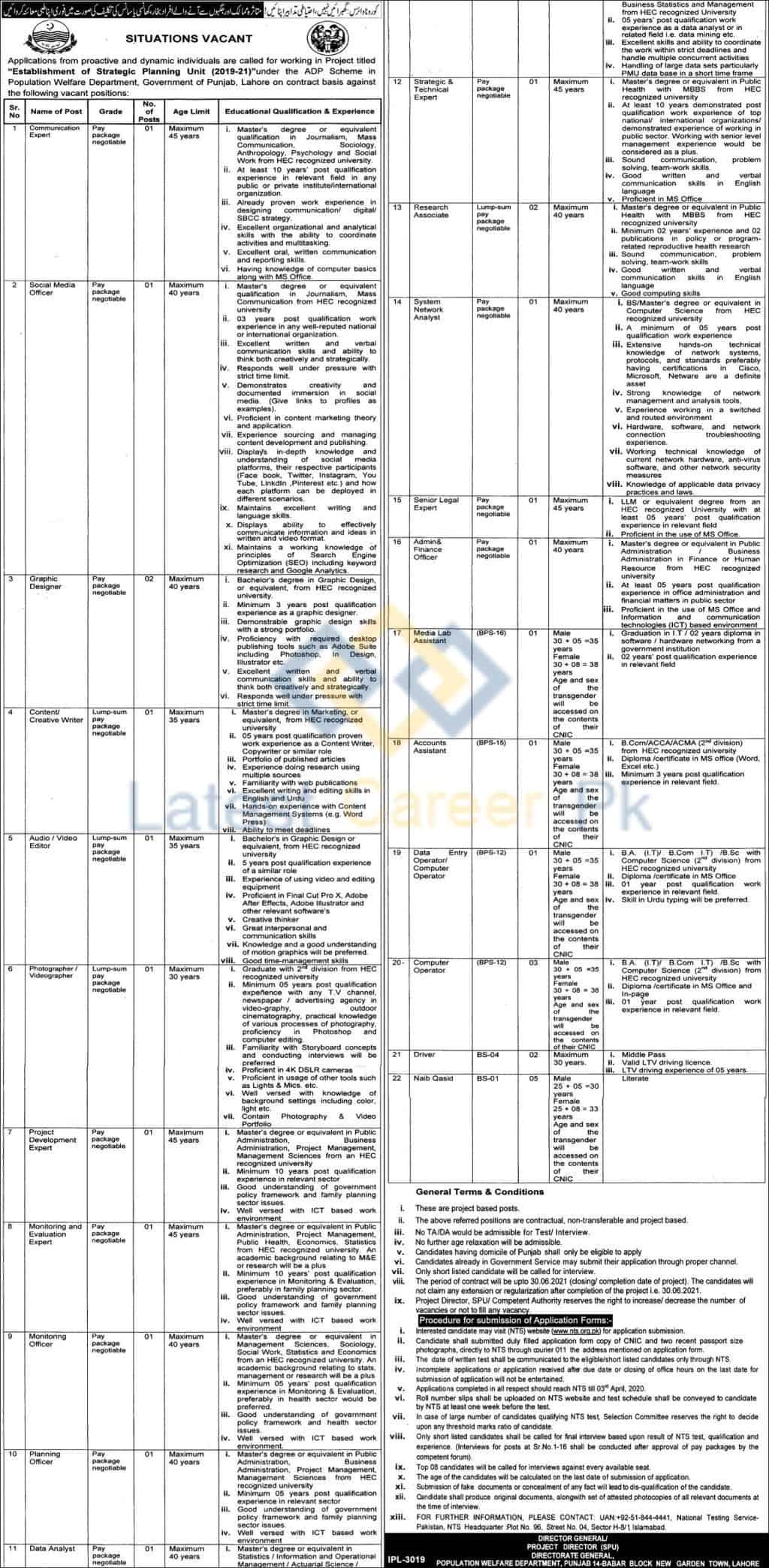 Govt-of-Punjab-Population-Welfare-Department-Lahore-Jobs-21-Mar-2020