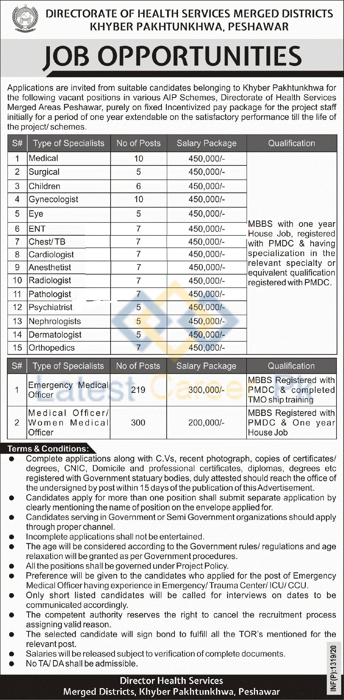 Directorate-of-Health-Services-Merged-Areas-Khyber-Pakhtunkhwa-Jobs-07-April-2020