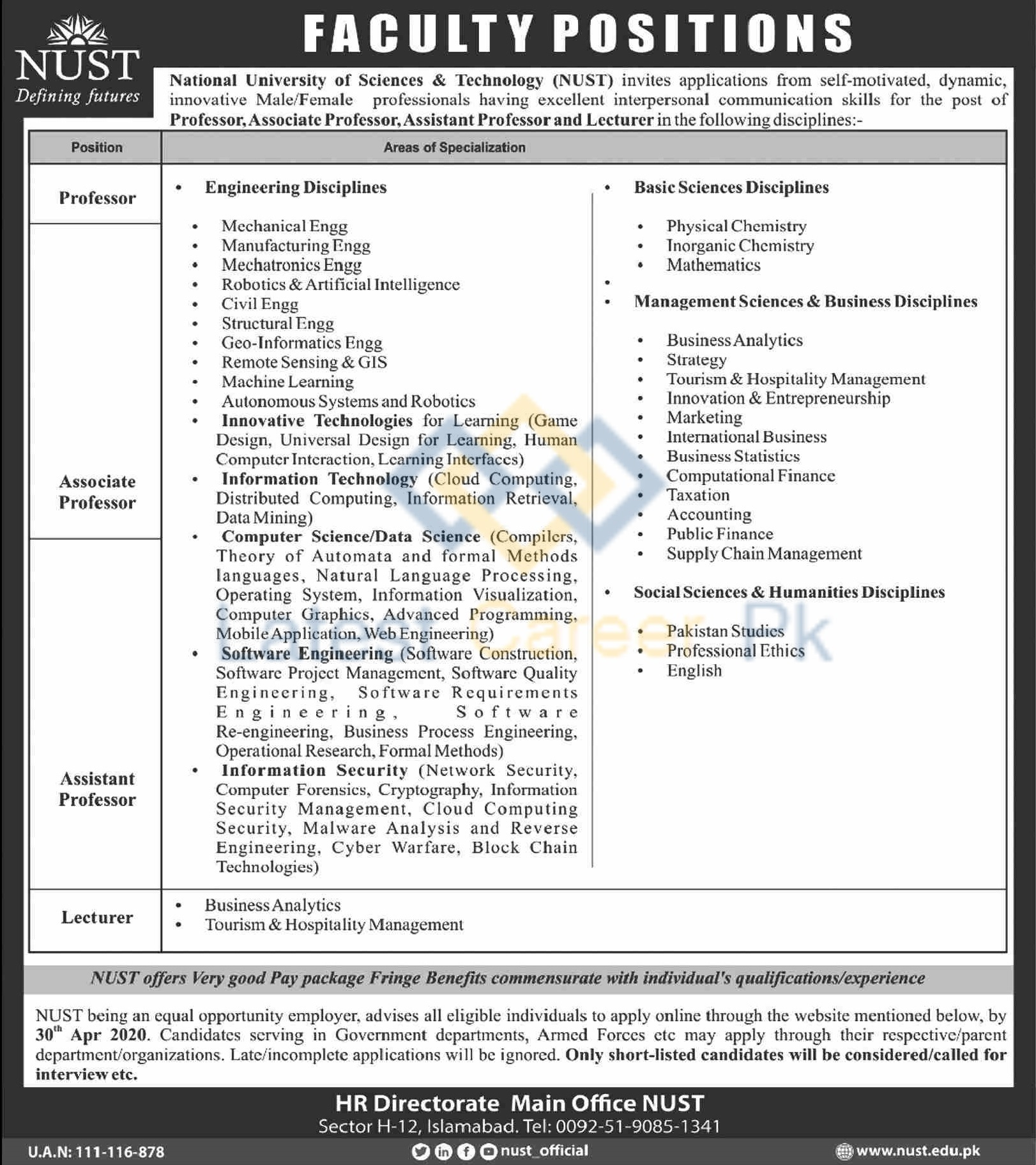 National-University-of-Sciences-and-Technology-NUST-Islamabad-Jobs-17-Apr-2020