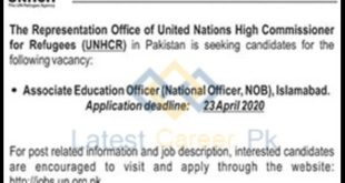 United-Nations-High-Commissioner-of-Refugees-UNCHR-Islamabad-Jobs-10-April-2020
