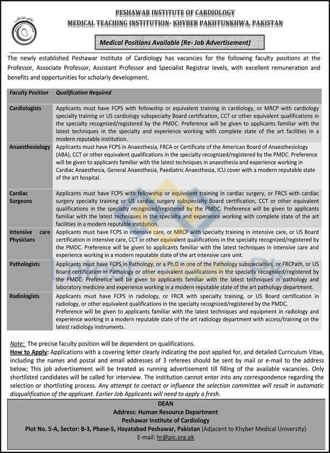 Peshawar-Institute-of-Cardiology-PIC-Peshawar-Jobs-13-May-2020-01